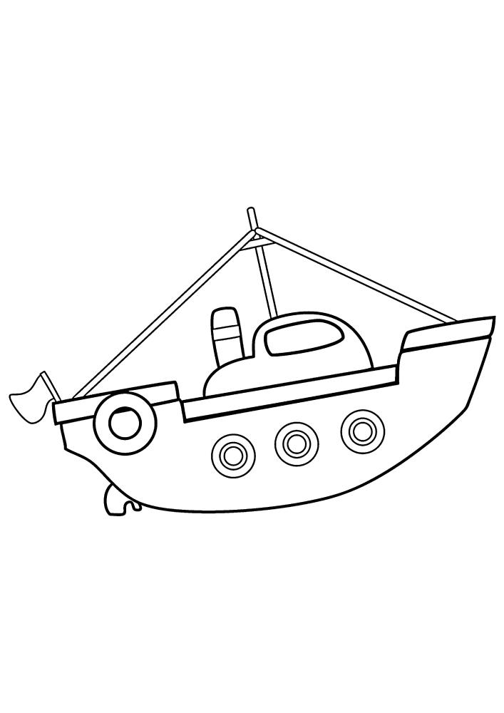Детский кораблик