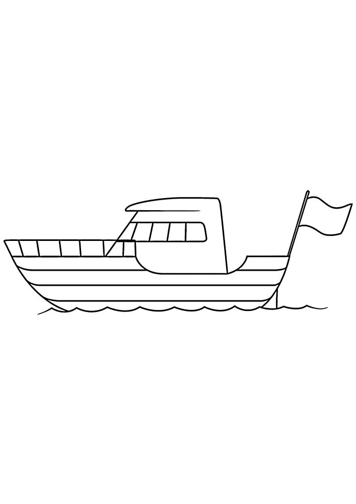 Яхта с флагом