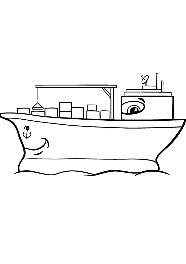 Весёлое транспортное судно.