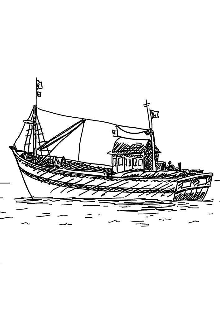 Лодка для ловли рыбы