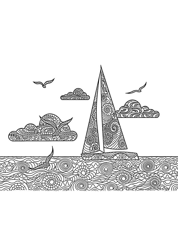 Антистресс яхта в открытом море