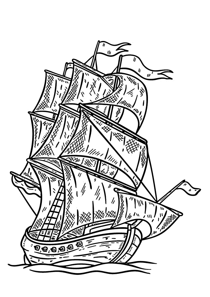 Наклонившийся корабль