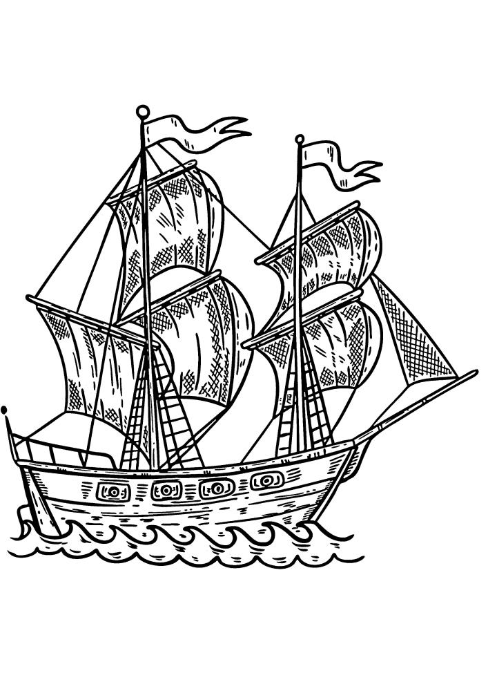 Корабль - вид сбоку