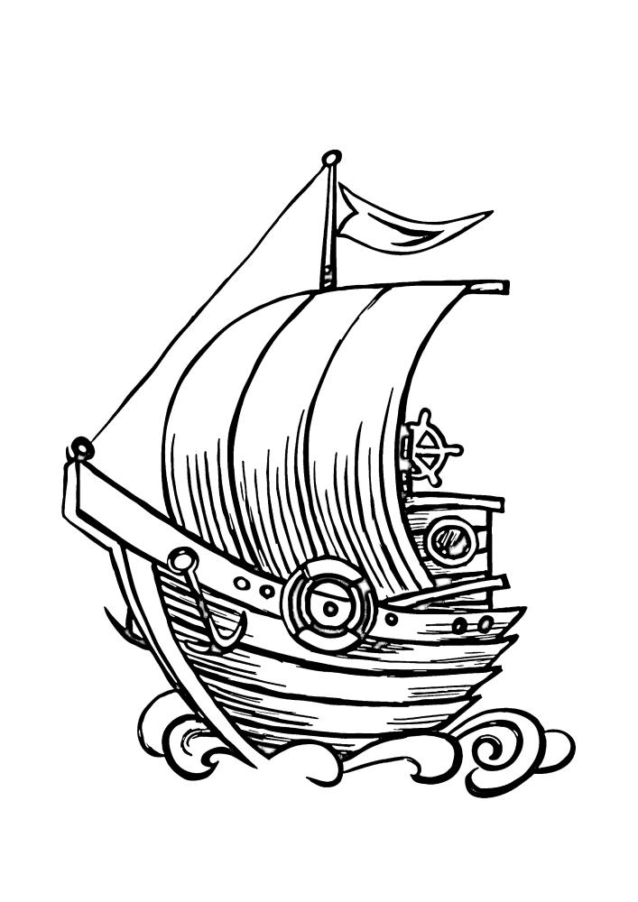 Деревянное судно для одного человека