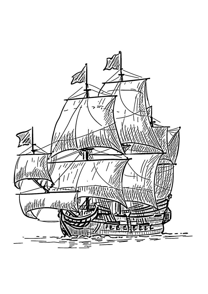 Один из самых больших кораблей прошлых столетий