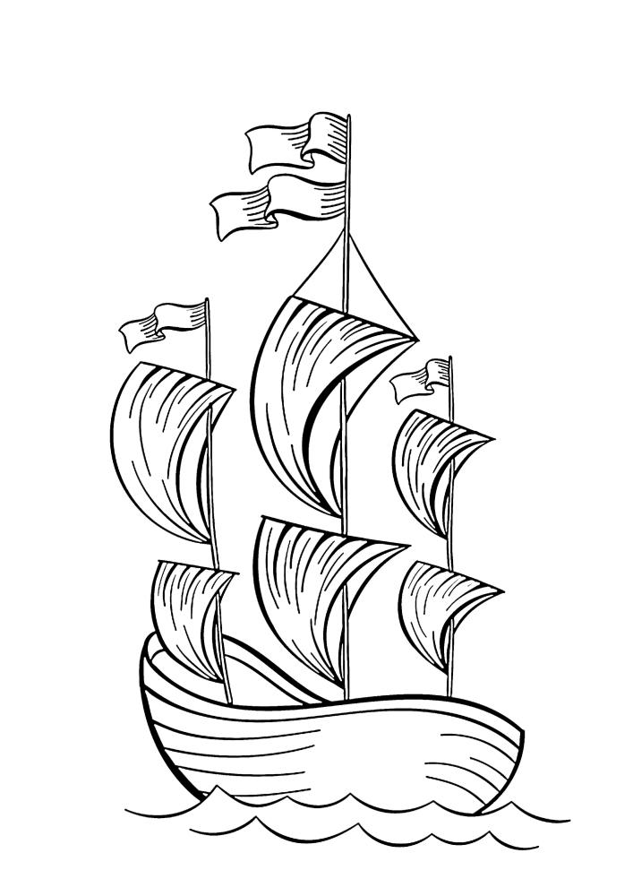 Корабль попал в штиль
