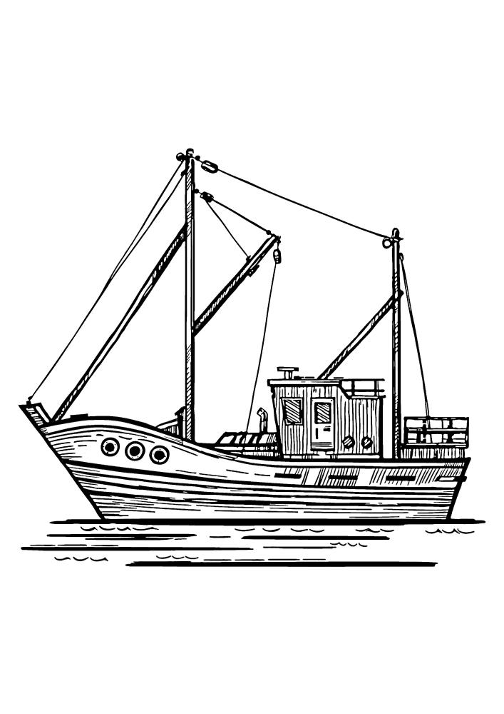 Небольшое судно, предназначенное для ловли морских обитателей - рыбы