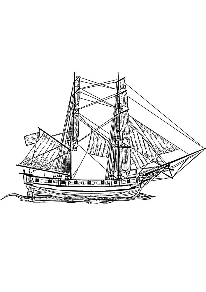 Старинное транспортное судно