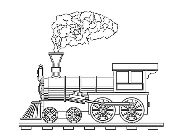 Раскраски Поезд и паровоз. 110 изображений - самая большая коллекция. Распечатать или скачать бесплатно можно у нас.