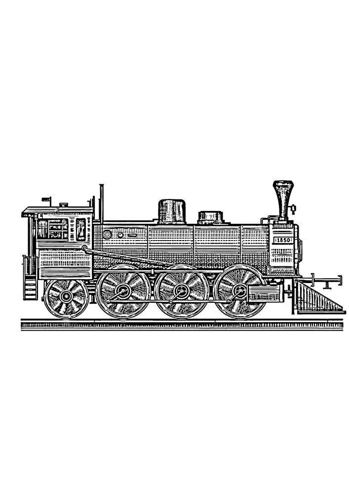Сложная раскраска поезда