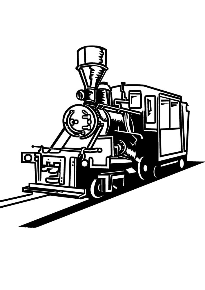 Чёрно-белая картинка самого востребованного транспорта