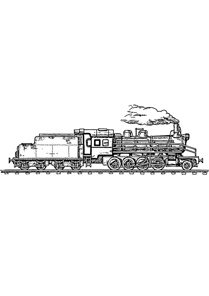 Поезд везёт тяжелый груз