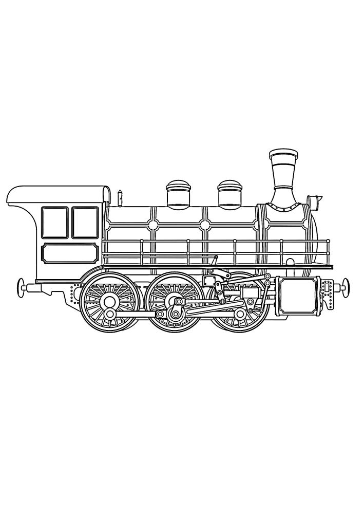 Образ поезда прошлого века