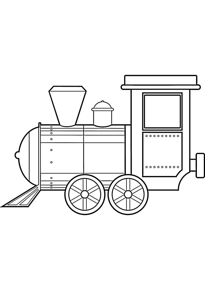 Поезд с 4 колесами