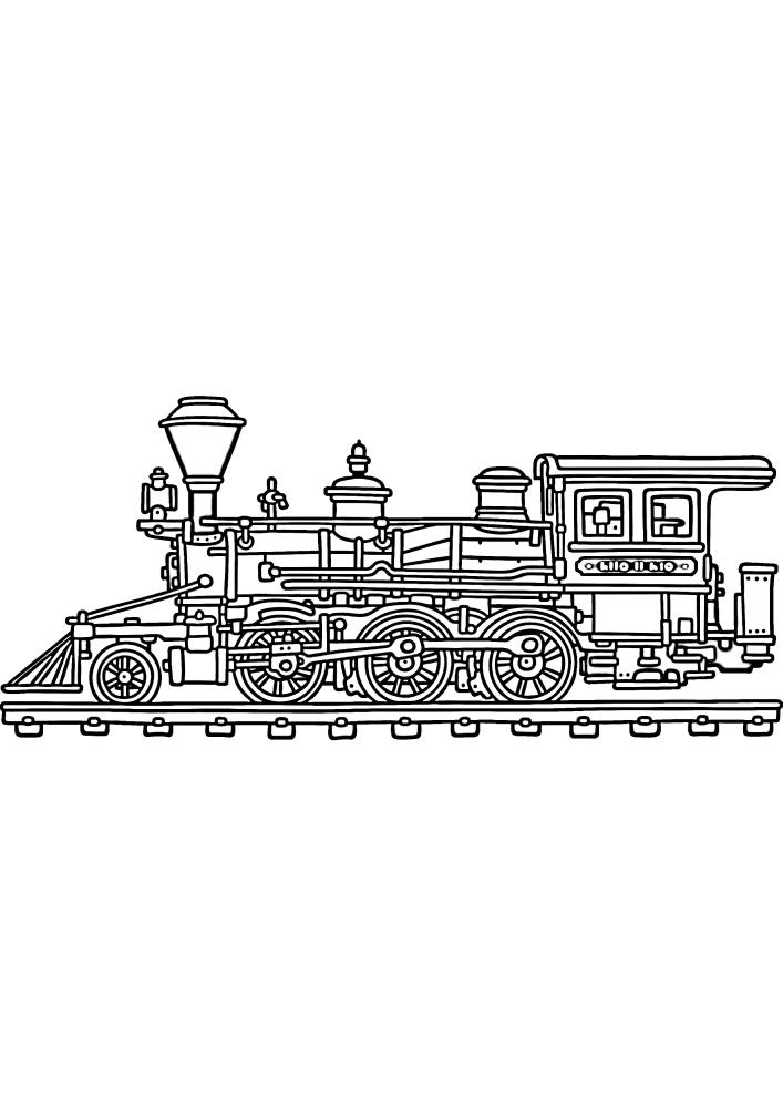 Распечатать раскраску поезда
