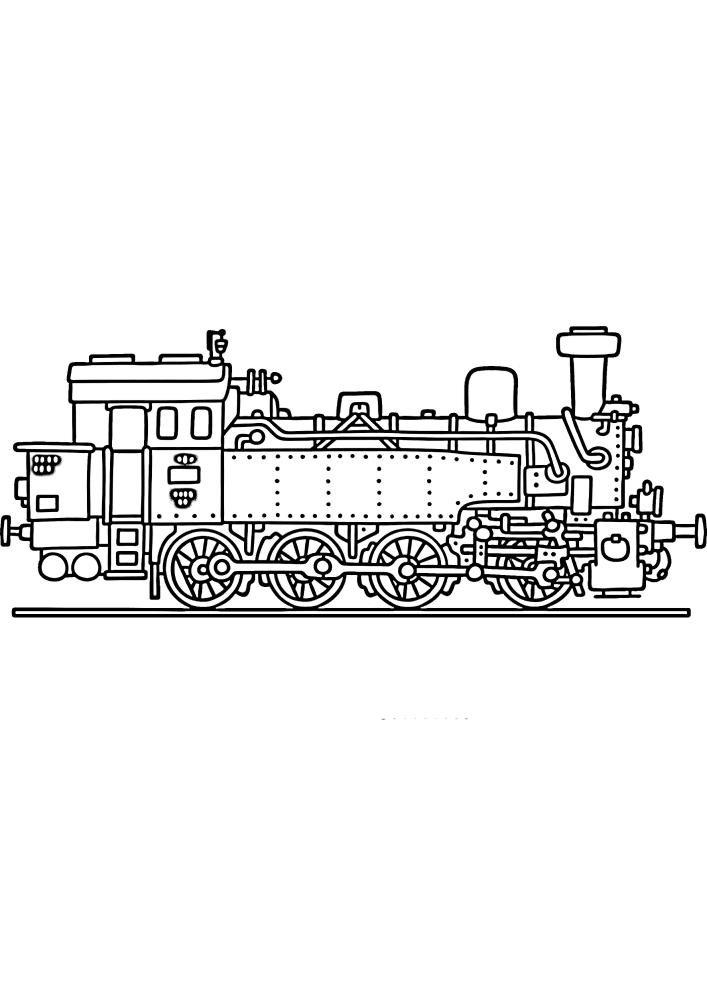 Вид на поезд сбоку