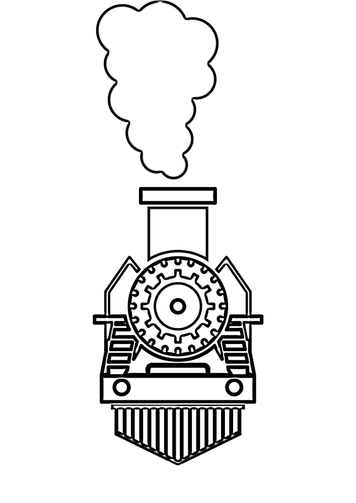 Поезд - вид спереди