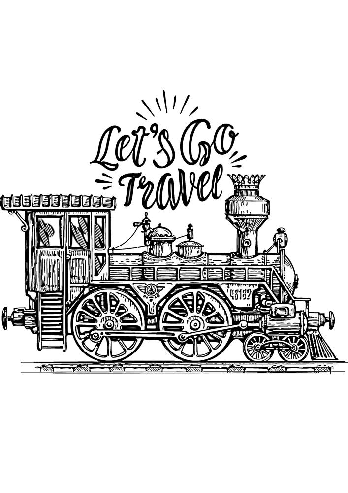 Вперёд в путешествие на поезде!