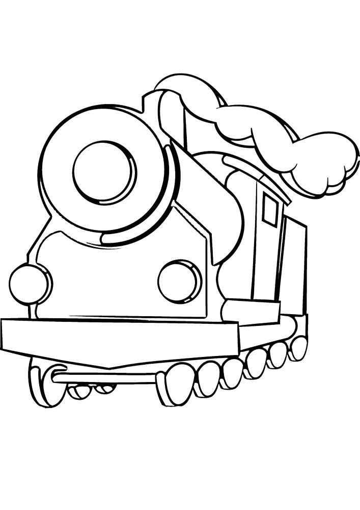 Детская раскраска поезда