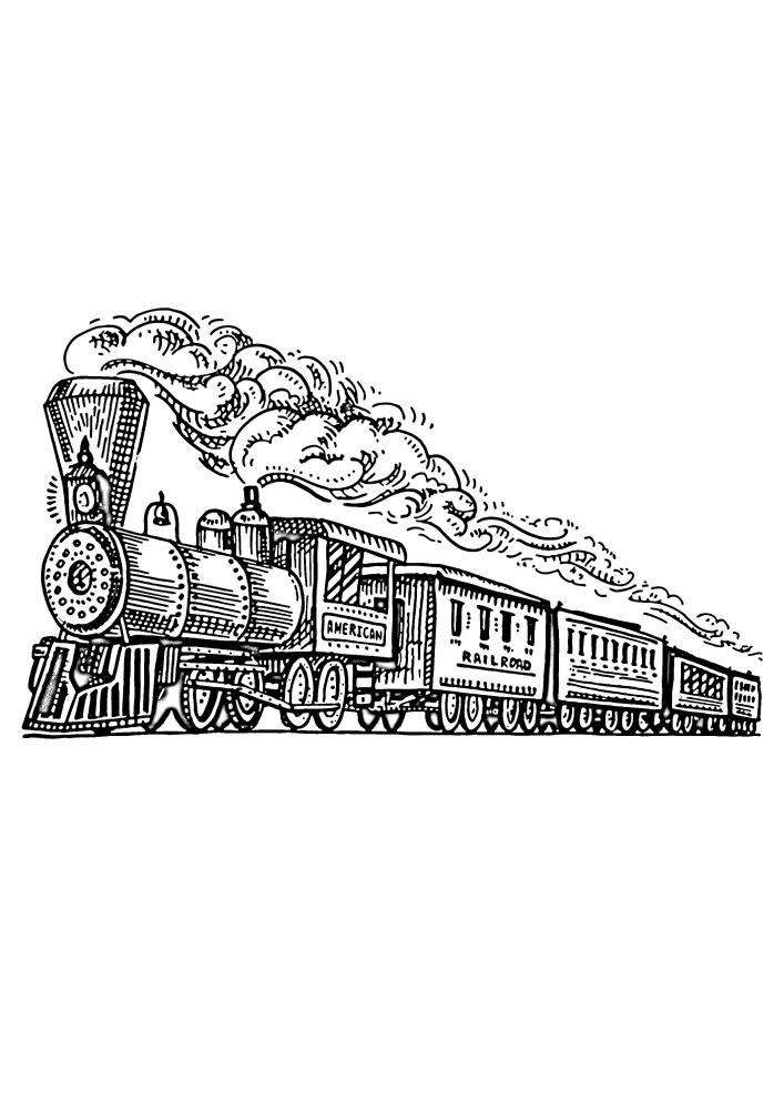 Поезд выпускает пар - это сгорает топливо