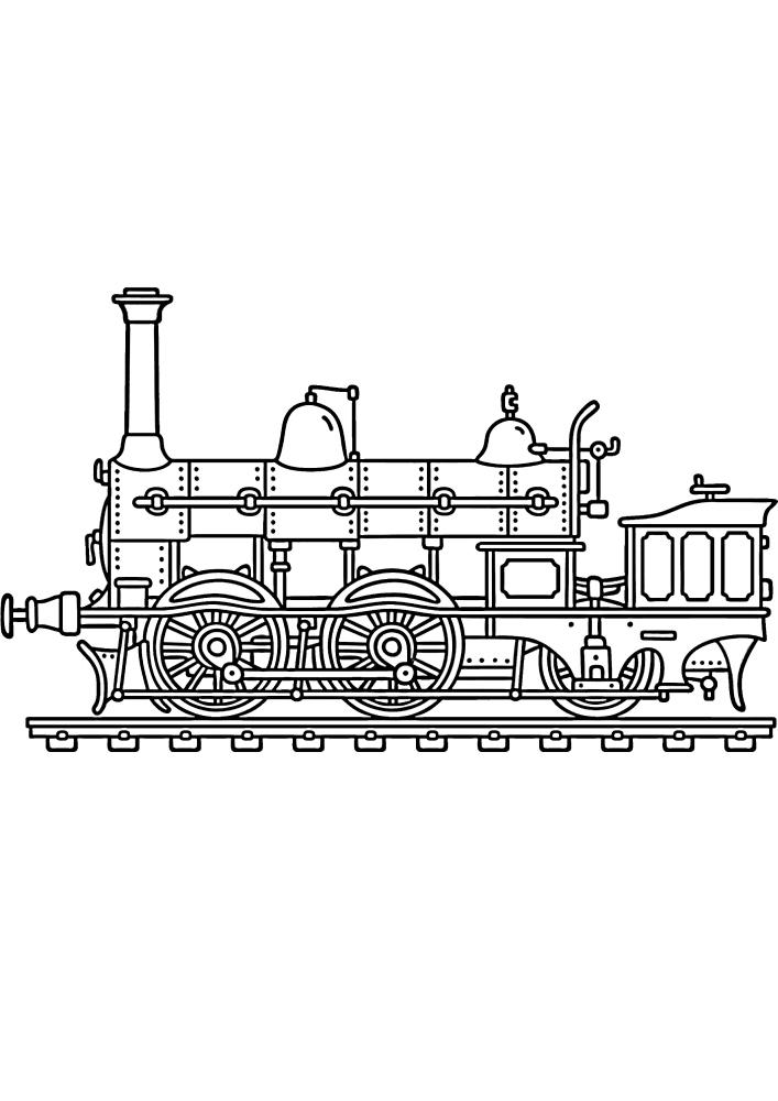 Старинный образец поезда