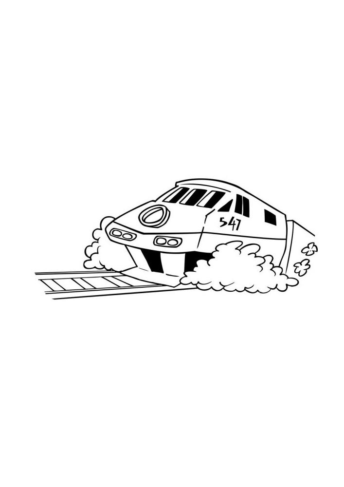 Скоростной поезд спешит доставить людей вовремя.
