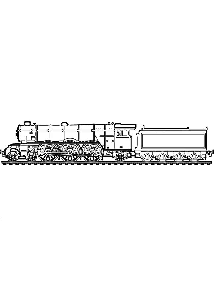 Поезд везёт уголь