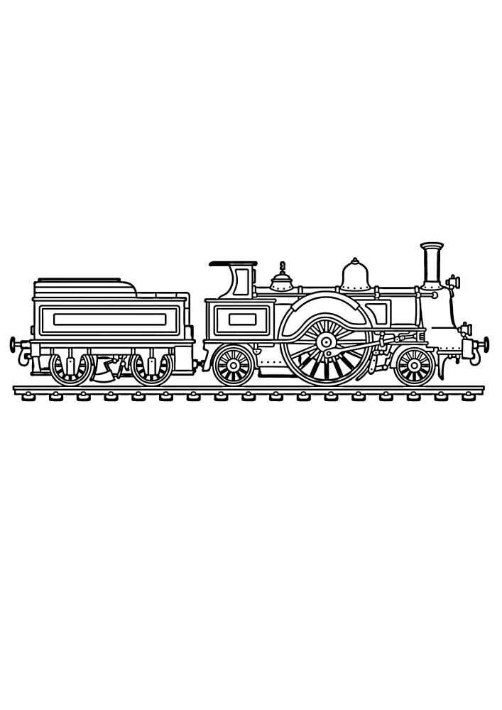 Поезд с огромным колесом