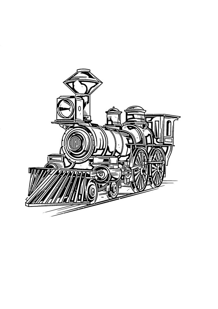 Поезд отдыхает от длинной дороги
