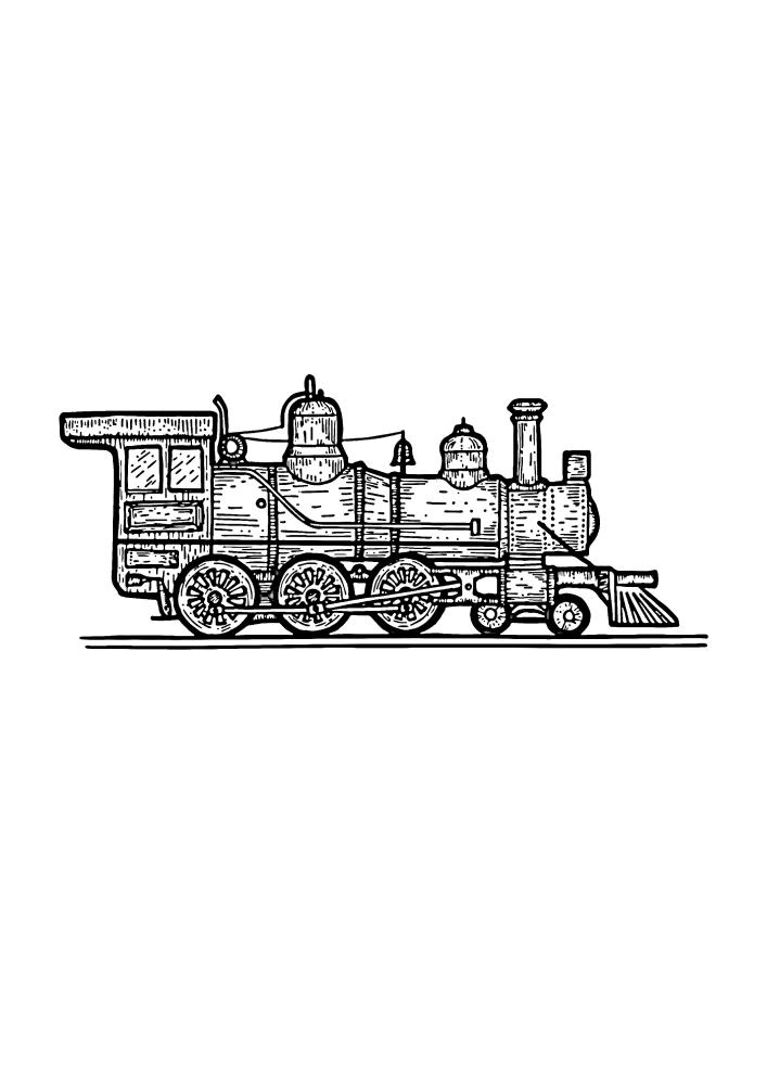 Детализированный паровоз