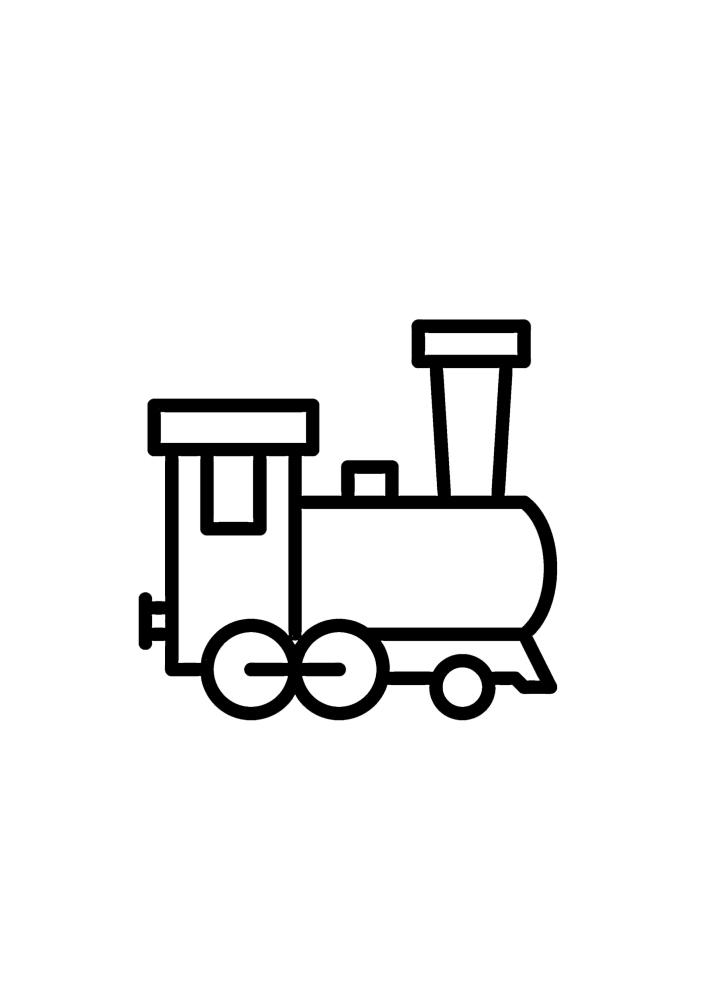 Маленький паровоз - раскраска для детей