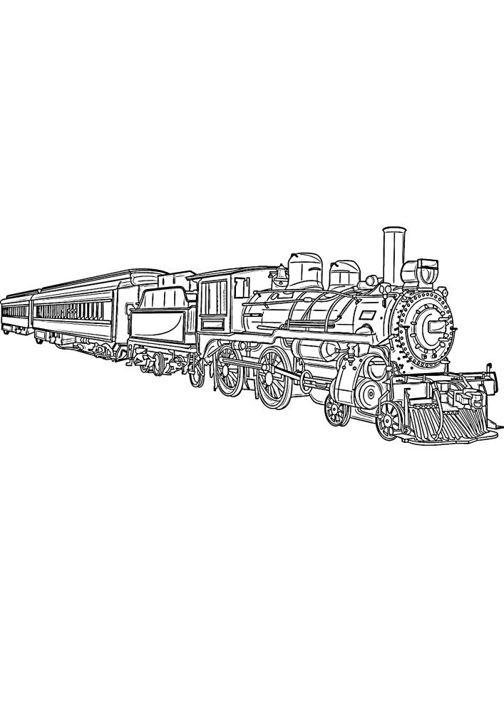 Длинный поезд
