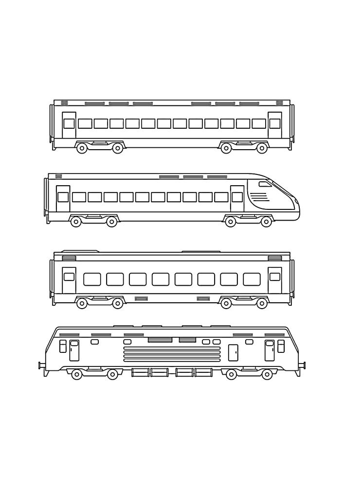 Разные варианты электричек и вагонов